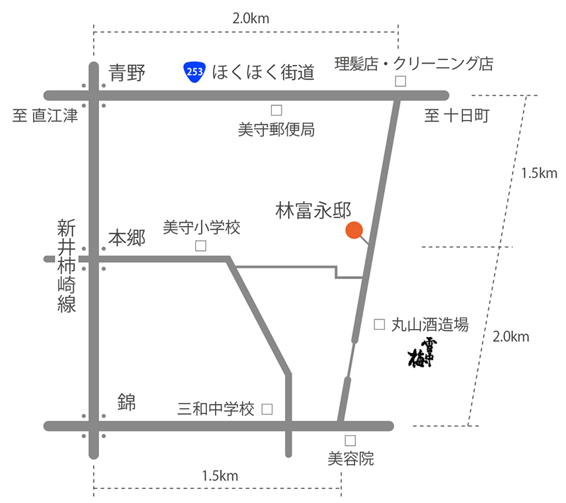 CAFE HAYASHIへのアクセスマップ