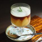 CAFE HAYASHI 白桃コンポートとアールグレイゼリーの甘酒ソース